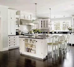 Of White Kitchens With Dark Floors Fascinating White Kitchen Design With White Cabinet And Brown