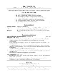 Sample Resume For Entry Level Technical Support Fresh Help Desk