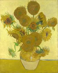 silver and exact sunflowers vincent van gogh 1888