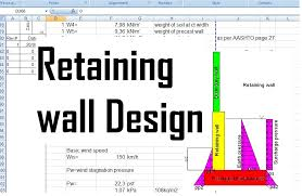 Small Picture Reinforced concrete retaining wall design xls Civil engineering