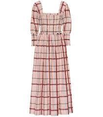 Cotton And Silk Midi Dress