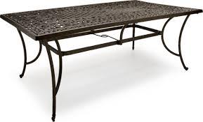 strathwood st thomas cast aluminum rectangular patio table