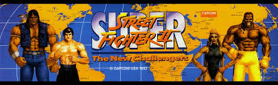 super street fighter ii the new challengers arcade marquee 26 x