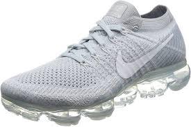 Nike Air Vapormax Flyknit Light Grey Mens Nike Air Vapormax Flyknit Running Shoe