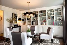 How to decorate bookshelves without books family room traditional with built-in  bookcase gold chandelier