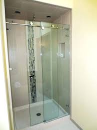 bathrooms 5 foot sliding glass shower door