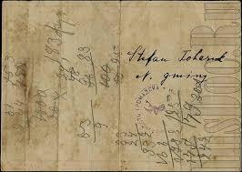 Галиция Контрольная карта на потребление сахара год  Контрольная карта на потребление сахара 1 2 3 и 4 неделя с 19 марта до 15 апреля 1916 года включительно Количество на 28 дней 750 г сахара