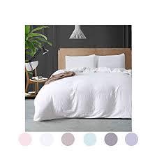 plain white duvet cover. Fine Cover MOVE OVER White Bedding All Duvet Cover Set Soft Washed Cotton Quilt  Plain Inside O
