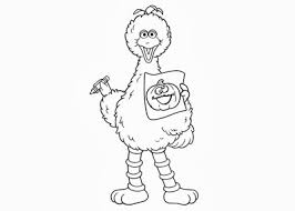 Small Picture Big Bird Coloring Page Big With Big Bird Coloring Page Gallery