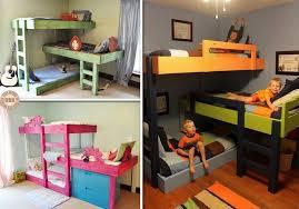 cool diy kids beds. Unique Cool Diy Triple Bunk Bed And Cool Kids Beds D