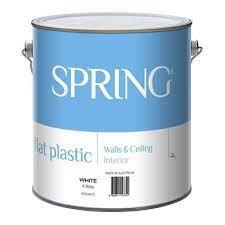 spring 4l flat white interior paint