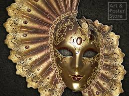 Decorative Venetian Wall Masks Second Life Marketplace GOLDEN FAN Venetian MASK Wall Decoration 24