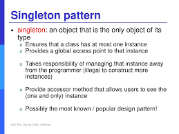 Singleton Pattern New Decorating Design