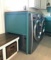 picture of diy laundry table over your washer and dryer
