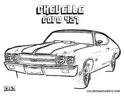 1969 chevy camaro coloring pages
