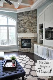 evolution of style diy stone fireplace reveal for real