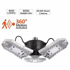 Garage Ceiling Light Fixtures Us 49 49 1 Off Kohree 5w Motion Activated Garage Ceiling Light 4200 Lumen For Garage Attic Basement Home In Led Panel Lights From Lights
