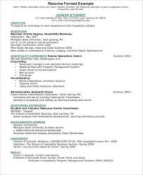 40 Sample Hospitality Resumes Sample Templates Gorgeous Resume Format Hotel Industry