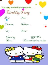 Hello Kitty Sample Birthday Invitation Template Templates Scorev Pro
