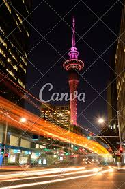 Night Light Auckland Traffic Light Trails In Auckland Cbd At Dusk Photos By Canva