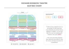 Lion King Theatre Seating Chart Richard Rodgers Theater Seating Chart Watch Hamilton On