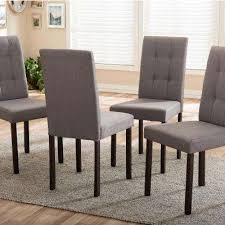 andrew 9 grids gray fabric upholstered dining chairs set of 4