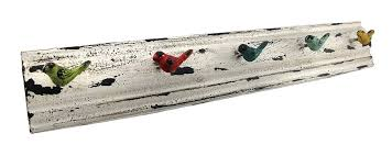 Bird Coat Rack Amazon Distressed Metal Multicolor Birds Wall Mounted Coat Rack 8