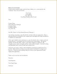 Impressive Sample Basic Resume Cover Letter With Additional Basic