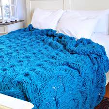 IN STOCK: Queen size Chunky Cable Knit Blanket in dark turquoise Cabled  Wool Hand Knitted Blanket 1809.226.Q | Chunky Knit Blanket | Pinterest |  Hand knit ...