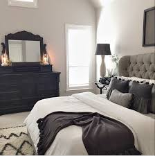 wall colors for black furniture. Simple Colors Master Bed Tufted Grey Headboard  Future House Decor Pinterest For  Bedroom Colors With Black Furniture Wall For