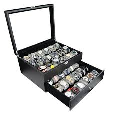 watch boxes display cases for watches webnuggetz com high clearance for larger watches holds 36 watches