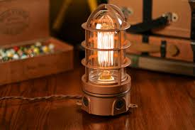 industrial lighting fixtures vintage. Industrial Lamps And Vintage Explosion Proof Cage Edison Bulb Table Lamp Dan Lighting Fixtures A
