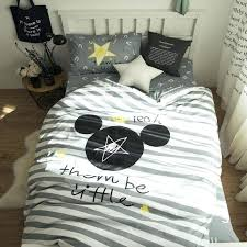 mickey mouse bedding set striped twin size duvet covers for kids bedroom decor cotton bed sheets mickey mouse bedding set