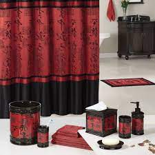 Bathroom Being Different And Brave With Red Bathroom Accessories Black And Red Accessorie In Chinese Theme F Bathroom Red Black Bathroom Red Bathroom Decor