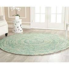 ikat ivory blue 8 ft x 8 ft round area rug