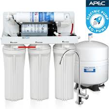 Home Ro Water Systems Apec Ultimate Reverse Osmosis System With Booster Pump 45 Gpd