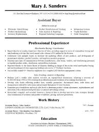 resume for buyer position resume sample resume media buyer buyer resume  sample com assistant the best