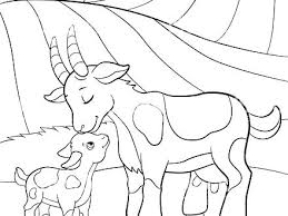 Farm Animals Coloring Pages Free Barnyard Animals Coloring Pages