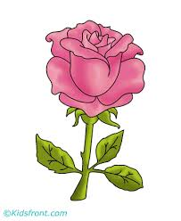 Small Picture Rose Flower Coloring Pages for Kids to Color and Print