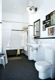 black hex tile cloth shower curtain black hex floor tile black tile trim on white wall