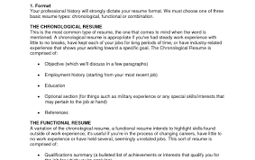 How To Write A Combination Resume Format Functional And