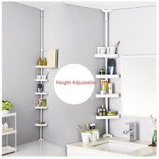 Plastic Corner Shower Shelves Corner Shower Caddy 100Tier White Plastic Tension Bathroom Corner 49