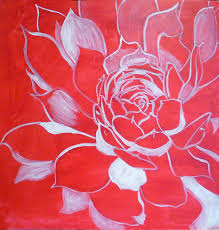 free acrylic painting lesson drawing on canvas i start to paint with contrasting colors
