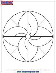 Small Picture Simple Geometric Mandala coloring sheets for kids I should make