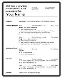 resume layout microsoft word