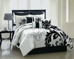 ... Black And White Floral Comforter Set Queen 9 Piece King Arroyo Bedding  Arezzo ...