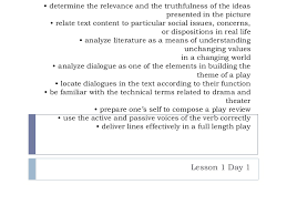 A Raisin In The Sun Character Chart Answer Key Lesson 1 Day 1