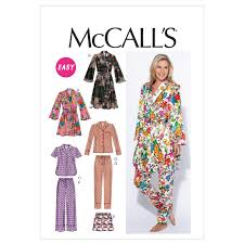 Mccalls Patterns Gorgeous Misses Robe Belt Tops Shorts And Trousers McCalls Pattern 48