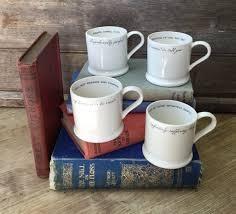 Quote Mugs Classy Literary Quote Mugs Espresso Mug Literary Gifts William Etsy