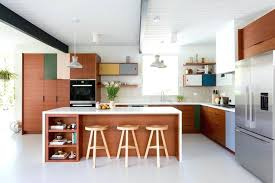mid century modern kitchen island elegantly stylish designs lighting minimalist cabinet
